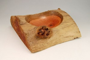 Red Eucalyptus Log Bowl