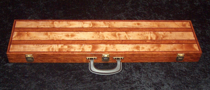 Quilted Maple Pool Cue Case